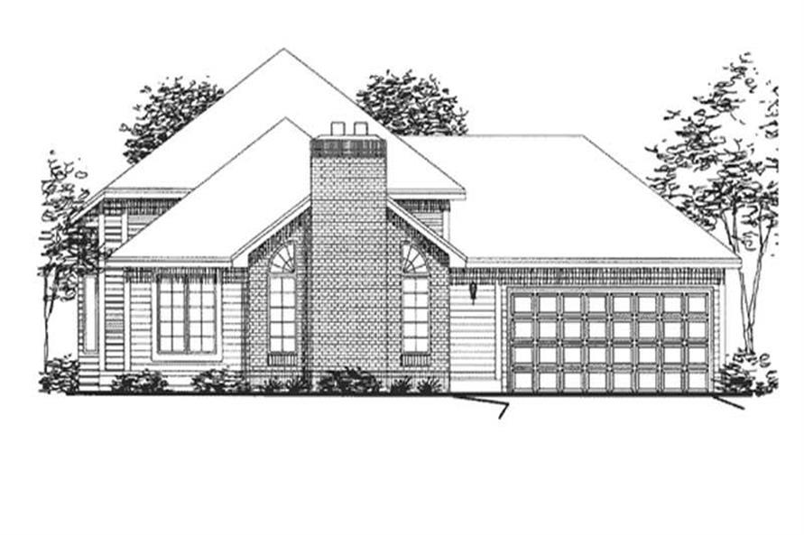 2-Bedroom, 1196 Sq Ft Bungalow Home Plan - 146-2203 - Main Exterior