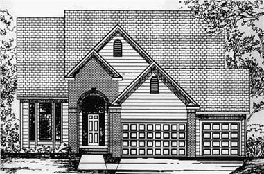 4-Bedroom, 2507 Sq Ft Colonial Home Plan - 146-2204 - Main Exterior