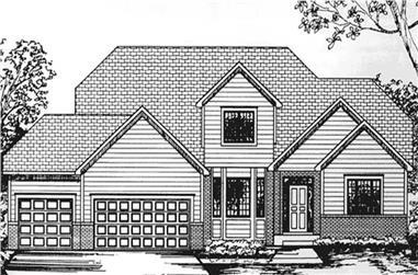 4-Bedroom, 2412 Sq Ft Cape Cod Home Plan - 146-2205 - Main Exterior