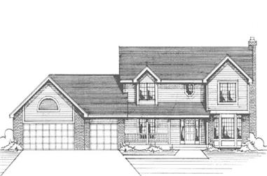 4-Bedroom, 2329 Sq Ft Country Home Plan - 146-2209 - Main Exterior