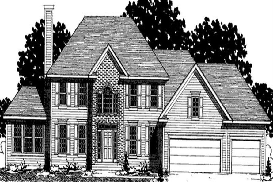 3-Bedroom, 2262 Sq Ft Colonial Home Plan - 146-2211 - Main Exterior
