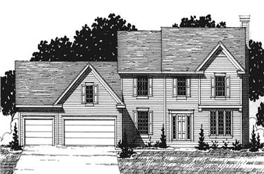 4-Bedroom, 2488 Sq Ft Colonial House Plan - 146-2212 - Front Exterior