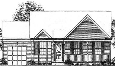 2-Bedroom, 1134 Sq Ft Country Home Plan - 146-2217 - Main Exterior