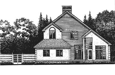4-Bedroom, 6109 Sq Ft Colonial House Plan - 146-2221 - Front Exterior