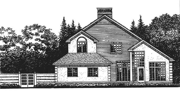 Main image for house plan # 21030