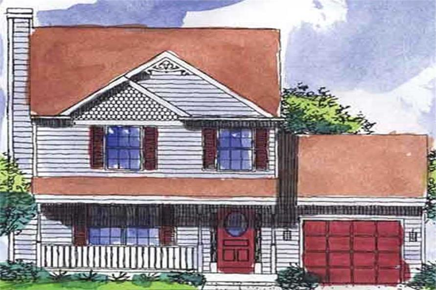3-Bedroom, 1150 Sq Ft Country House Plan - 146-2223 - Front Exterior