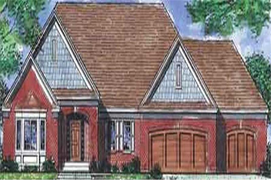 1-Bedroom, 2092 Sq Ft French Home Plan - 146-2228 - Main Exterior