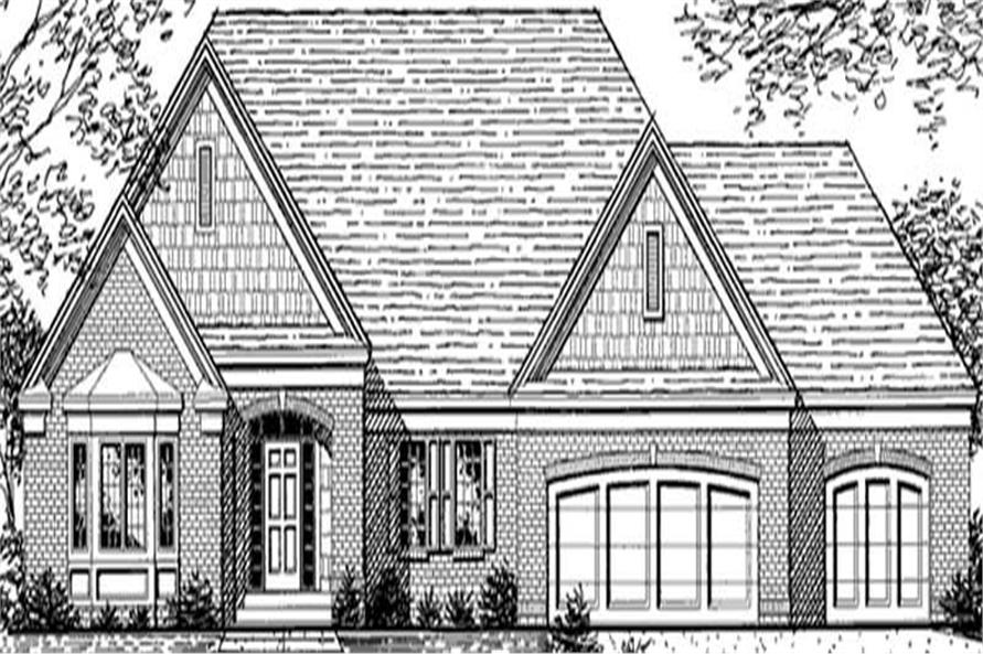 Home Plan Front Elevation of this 1-Bedroom,2092 Sq Ft Plan -146-2228