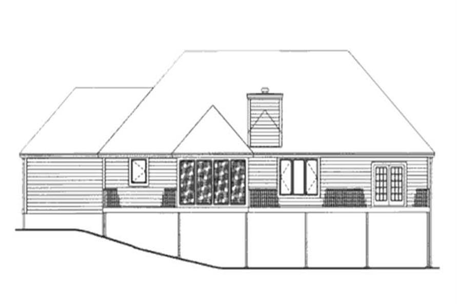 Home Plan Rear Elevation of this 1-Bedroom,2092 Sq Ft Plan -146-2228