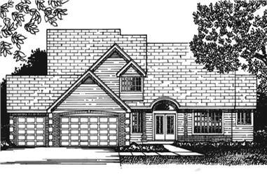 3-Bedroom, 2351 Sq Ft Cape Cod Home Plan - 146-2229 - Main Exterior