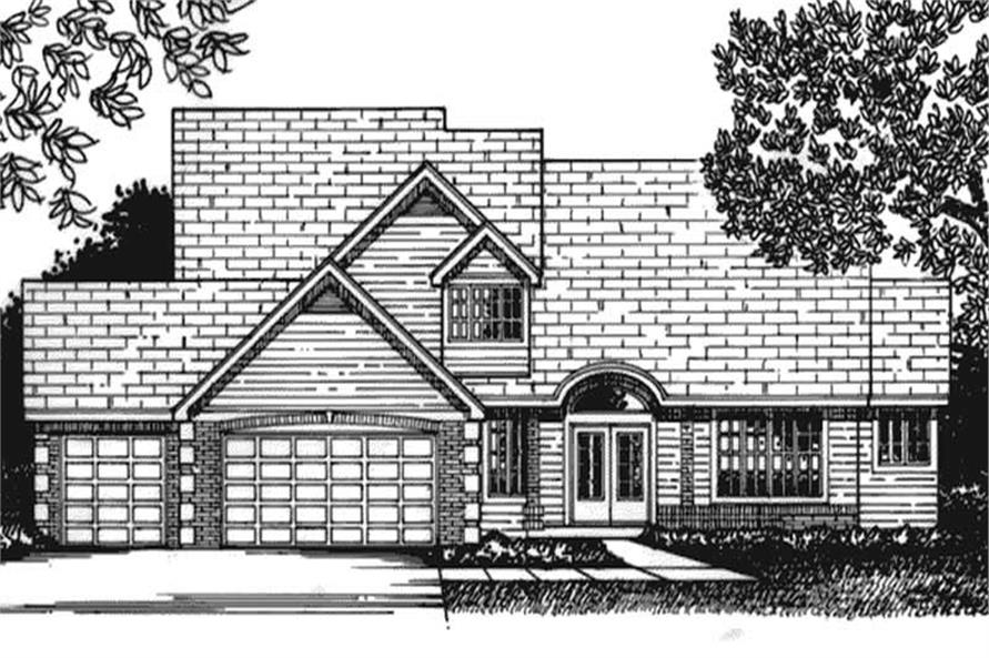 3-Bedroom, 2351 Sq Ft Cape Cod Home Plan - 146-2229 - Main Exterior
