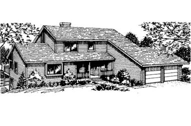 3-Bedroom, 1900 Sq Ft Country Home Plan - 146-2231 - Main Exterior