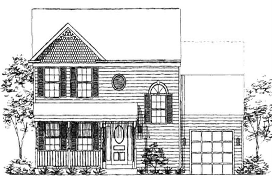 3-Bedroom, 1292 Sq Ft Country House Plan - 146-2233 - Front Exterior