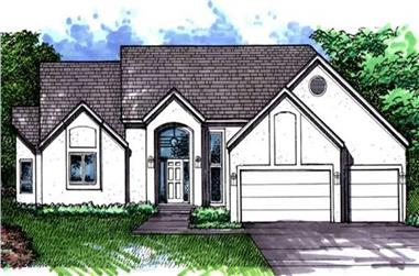 2-Bedroom, 3181 Sq Ft Ranch House Plan - 146-2236 - Front Exterior