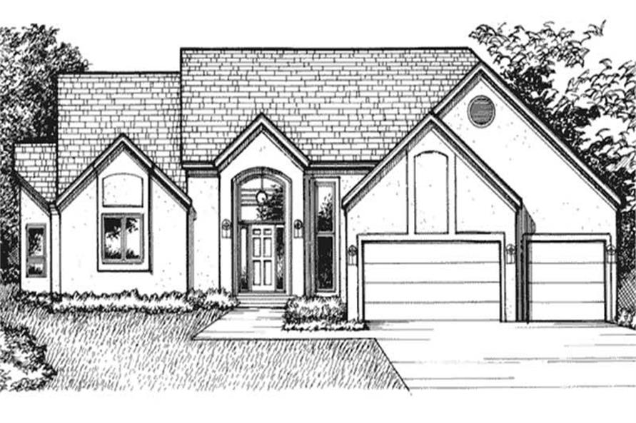 Home Plan Front Elevation of this 2-Bedroom,3181 Sq Ft Plan -146-2236
