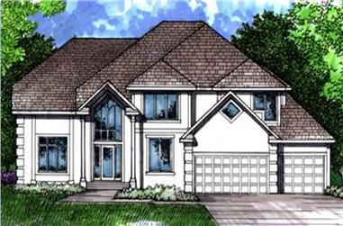 5-Bedroom, 4749 Sq Ft Colonial House Plan - 146-2237 - Front Exterior