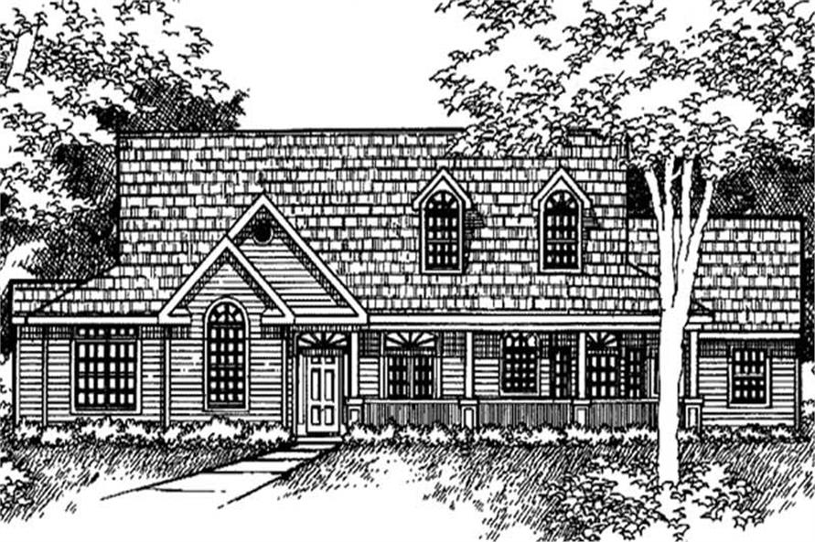 Main image for house plan # 21052