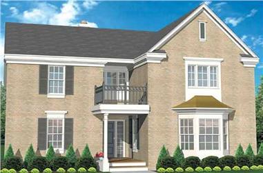 3-Bedroom, 2667 Sq Ft European House Plan - 146-2246 - Front Exterior