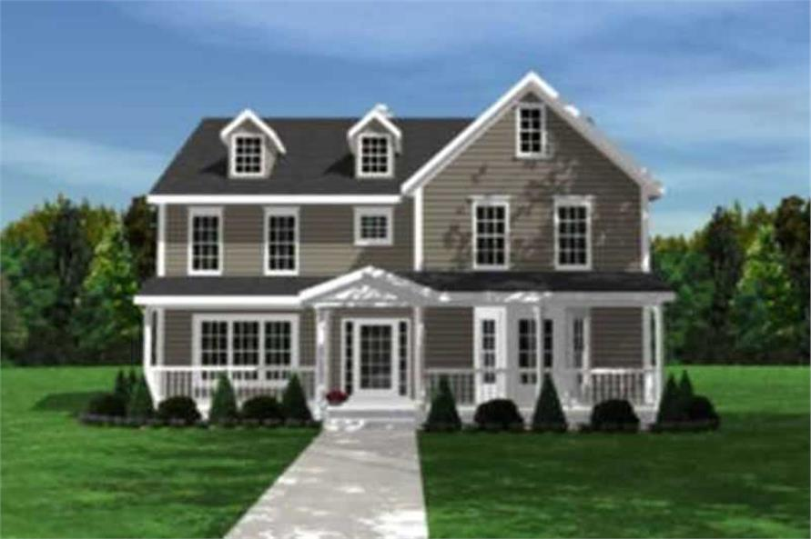 Home Plan Front Elevation of this 3-Bedroom,2667 Sq Ft Plan -146-2247