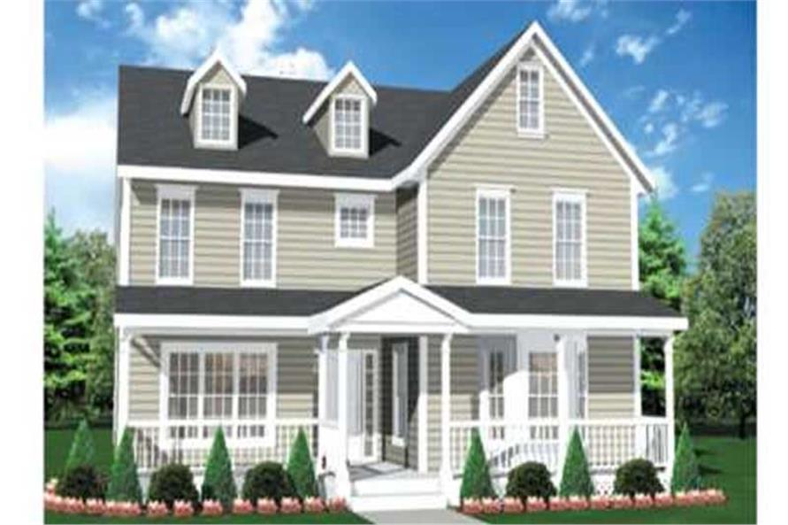 3-Bedroom, 2667 Sq Ft Colonial House Plan - 146-2247 - Front Exterior