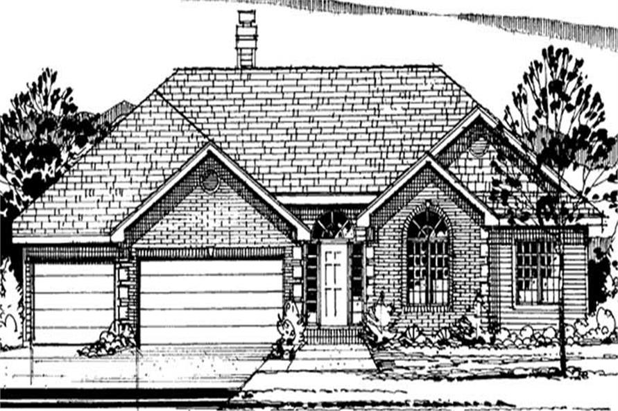 Main image for house plan # 21039