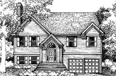 4-Bedroom, 2793 Sq Ft Colonial Home Plan - 146-2250 - Main Exterior