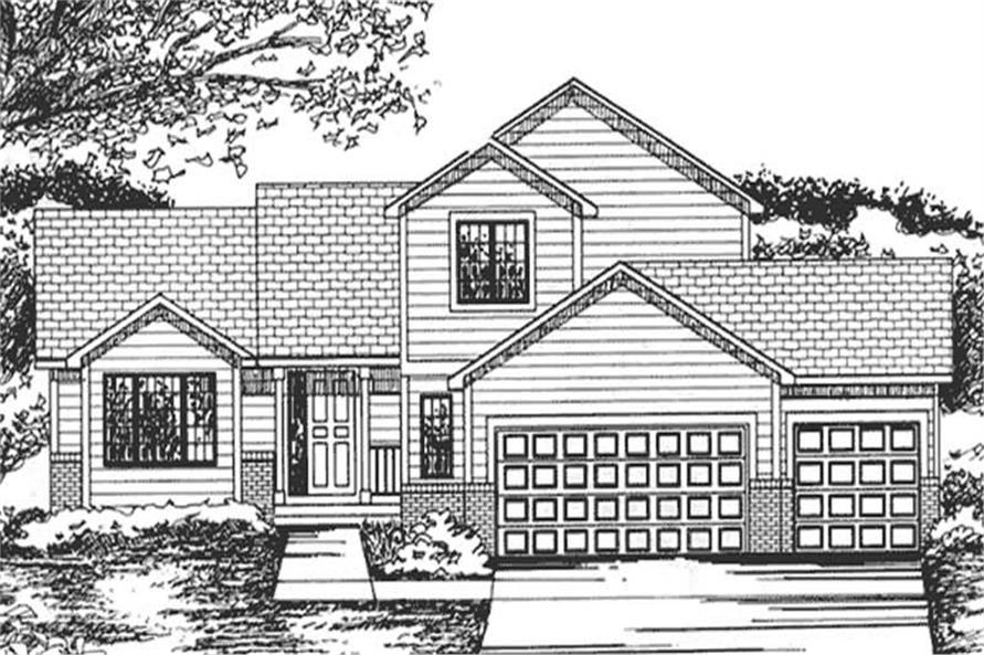3-Bedroom, 2035 Sq Ft Cape Cod House Plan - 146-2255 - Front Exterior