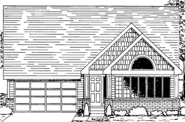 4-Bedroom, 2825 Sq Ft Cottage Home Plan - 146-2256 - Main Exterior