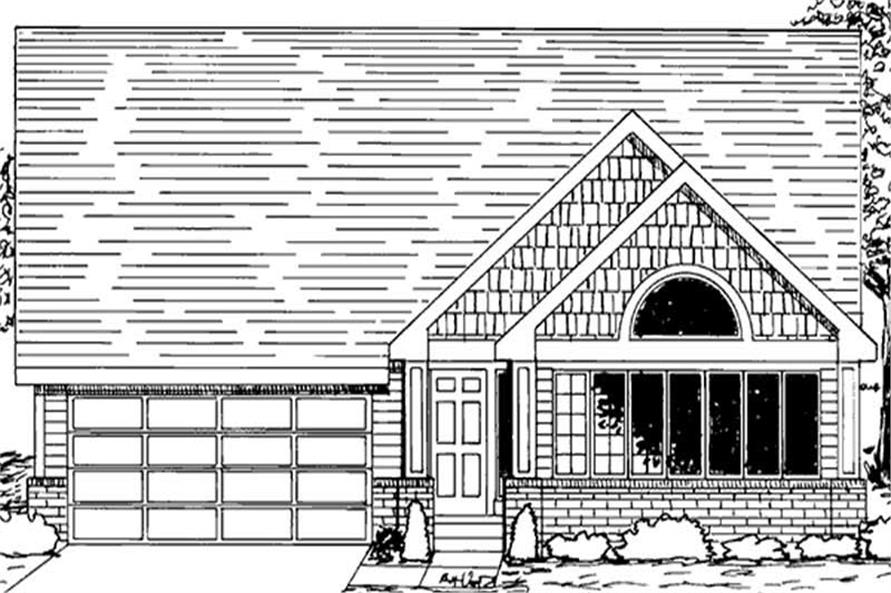 Main image for house plan # 21018