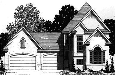 3-Bedroom, 2207 Sq Ft European House Plan - 146-2260 - Front Exterior