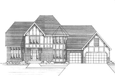 4-Bedroom, 2779 Sq Ft Tudor House Plan - 146-2261 - Front Exterior