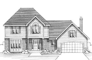 4-Bedroom, 2464 Sq Ft Country House Plan - 146-2262 - Front Exterior