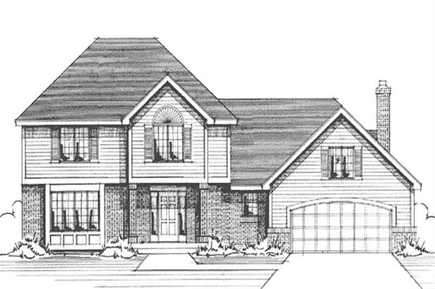 Main image for house plan # 21006
