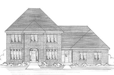 4-Bedroom, 2804 Sq Ft Colonial House Plan - 146-2263 - Front Exterior