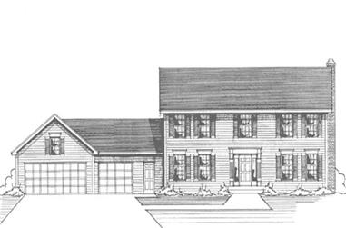 4-Bedroom, 2450 Sq Ft Colonial House Plan - 146-2265 - Front Exterior