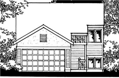 3-Bedroom, 1173 Sq Ft Small House Plans - 146-2266 - Front Exterior