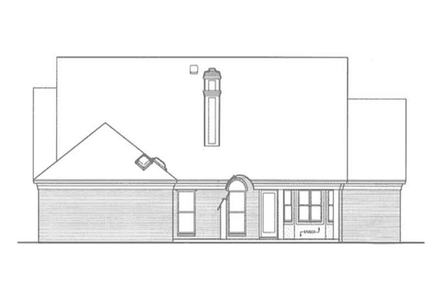 Home Plan Rear Elevation of this 3-Bedroom,2271 Sq Ft Plan -146-2270