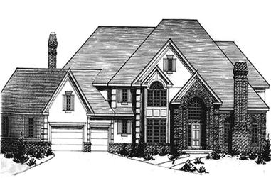 4-Bedroom, 4793 Sq Ft European Home Plan - 146-2271 - Main Exterior
