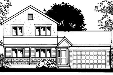 3-Bedroom, 1458 Sq Ft Farmhouse House Plan - 146-2272 - Front Exterior