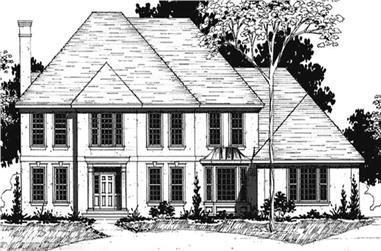 4-Bedroom, 4135 Sq Ft Colonial House Plan - 146-2274 - Front Exterior