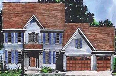 4-Bedroom, 2702 Sq Ft Colonial House Plan - 146-2280 - Front Exterior