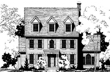 5-Bedroom, 3526 Sq Ft Colonial House Plan - 146-2281 - Front Exterior