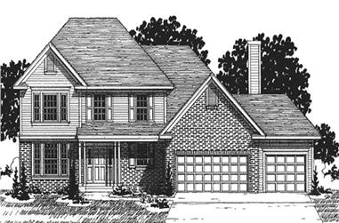 3-Bedroom, 2156 Sq Ft European House Plan - 146-2283 - Front Exterior