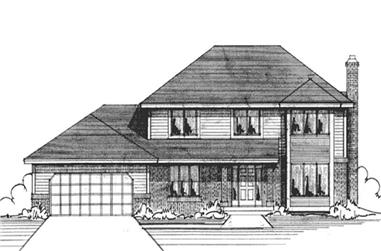 4-Bedroom, 2156 Sq Ft Country House Plan - 146-2284 - Front Exterior