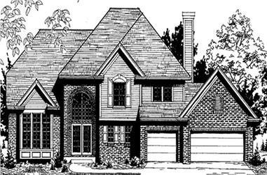 4-Bedroom, 2660 Sq Ft European House Plan - 146-2285 - Front Exterior