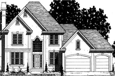 4-Bedroom, 2543 Sq Ft European Home Plan - 146-2286 - Main Exterior