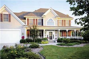 3-Bedroom, 3081 Sq Ft Country Home Plan - 146-2288 - Main Exterior