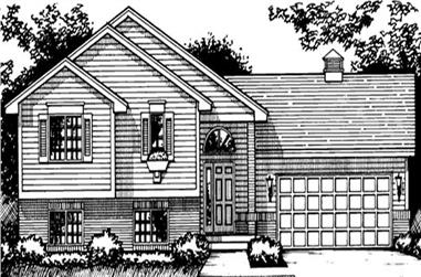 2-Bedroom, 1296 Sq Ft Country House Plan - 146-2290 - Front Exterior