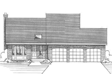3-Bedroom, 2062 Sq Ft Ranch House Plan - 146-2291 - Front Exterior