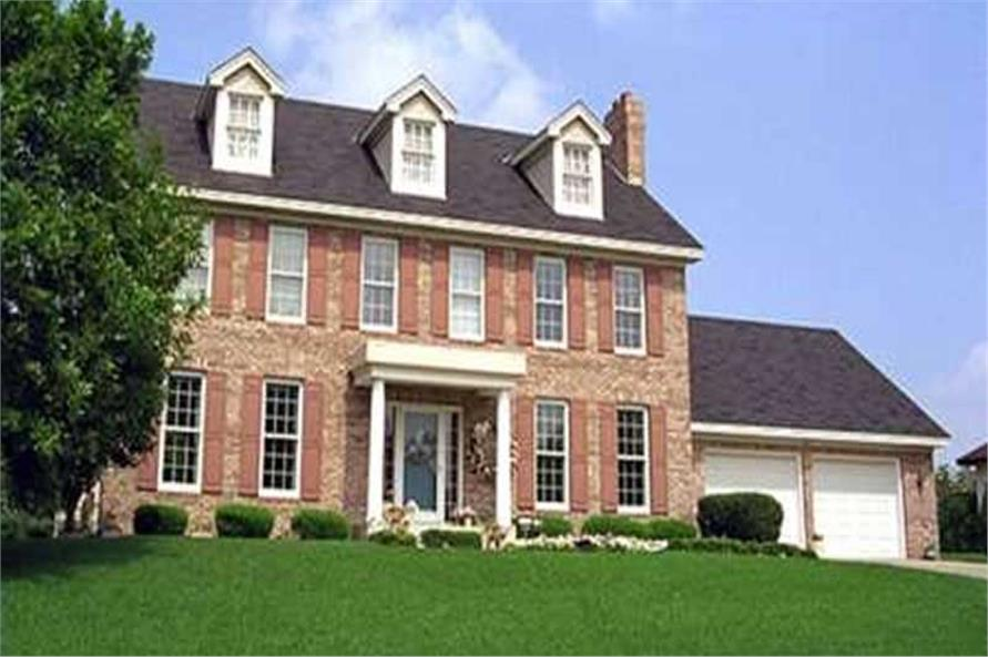 4-Bedroom, 2548 Sq Ft Colonial House Plan - 146-2292 - Front Exterior